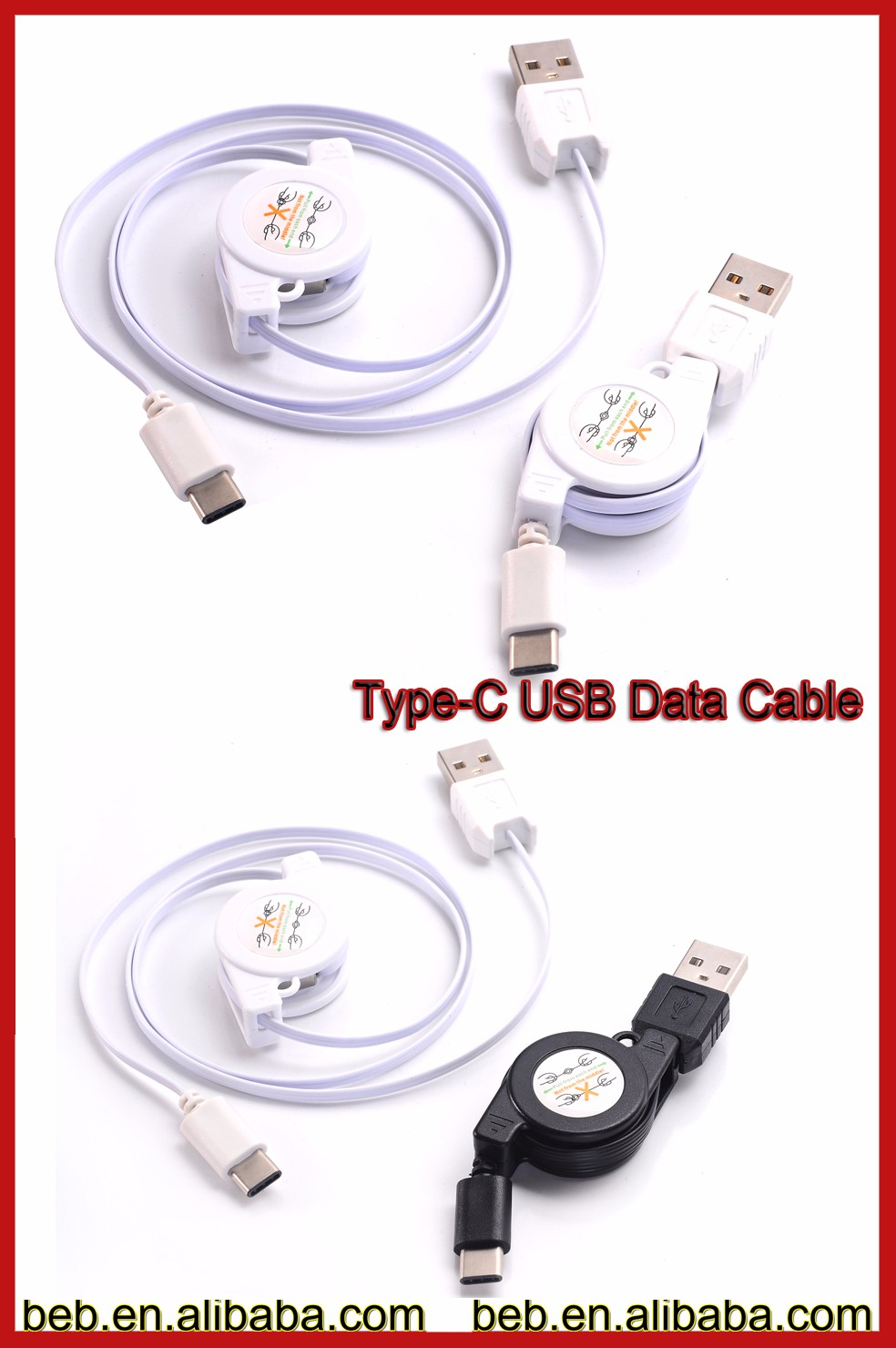 high speed unique patent retracable usb type-c cable on hot promotion