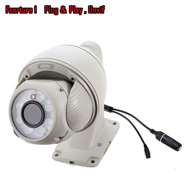 2016 New factory 4MP HD 4X zoom mini high speed dome ptz ip camera