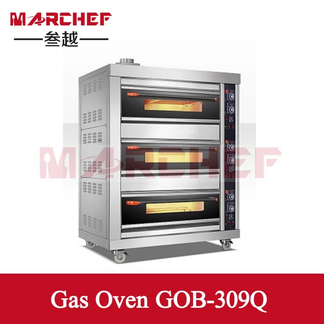 3 Layers 9 Pans Big Capacity gas oven_Bread oven_Catering baking machinery