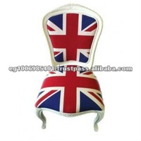 french antique Union jack dining chair