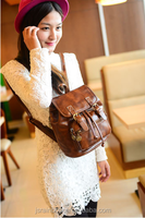 Vintage Style leisure Backpack Peppy style Mini leather Travel bag