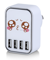 Mobile accessories 4 USB port wall charger, EU wall charger
