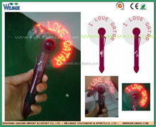 Qatar national day LED FAN/LED FAN with pen / i love qatar led fan