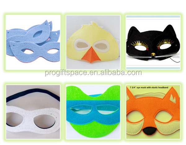 free shipping new hot sale felt mix color felt princess superhero eye party masks for kids children birthday gift