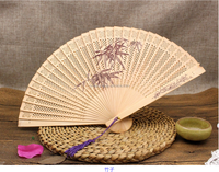 Chinese Style Wooden Hollow Carved Folding Fans