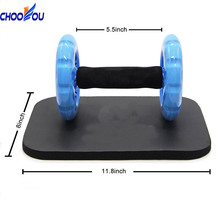 Abdominal Exercise Roller Knee Pad Mat Abs Workout Fitness Dual Wheel Gym Tool