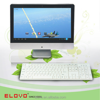 China oem all-in-one pc 15.6 inch all in one keyboard pc dual core with android 4.2