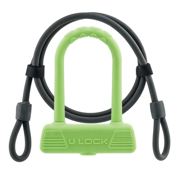 New arrival cable lock , high quality bicycle U lock, long cable U lock with silicone coat