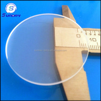 Circle sapphire glass plates for watch