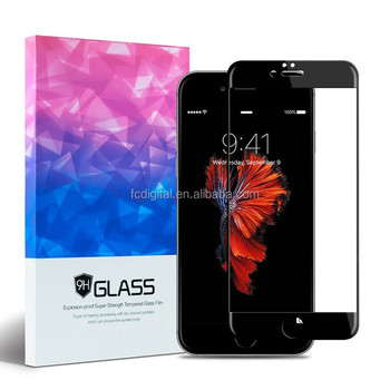 9H full cover 3d tempered glass for iphone 7 curved screen protector