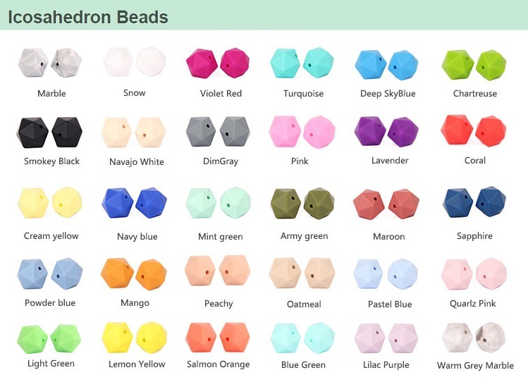 Wholesale Silicone Beads For Teething, Food Grade Silicone Teething Beads Bulk