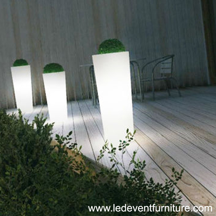 Modern outdoor plastic furniture design roman style led lighting bedroom decoration furniture