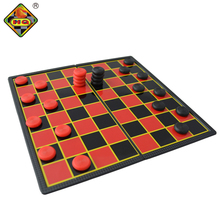 Medium Sized Foldable Magnetic Plastic Checker Chess set board with game pieces