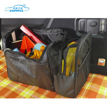 Foldable Collapsible PVC Leather Car Trunk Tool Tidy Bag Organizer