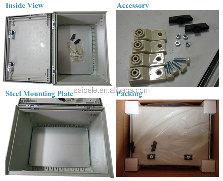 2015 New Outdoor Lockable IP66 Waterproof Electrical Box/ Fiberglass Box/ Control Box SMC Series