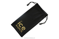 Double Rope Black Printed Glasses Pouch / Microfiber Pouch /Lens