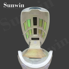 SW-708S dry spa capsule super infrared ozone sauna spa capsule CE photon 6 lights 8 pieces LED far infrared sauna capsule