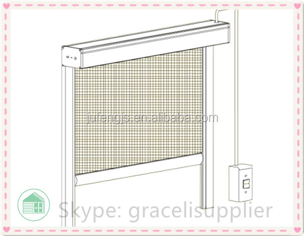Large size Electric mosquito retractable insect screen door and window China manufacture