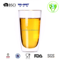 350ml Double Walled Glass Cup,Residential Wine Glass,Ice Tea Cup