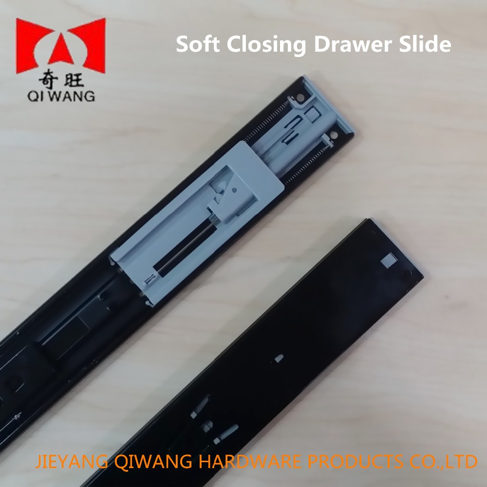 Kitchen Cabinet Parts Soft Closing Telescopic Drawer Slide For Kitchen Furniture
