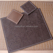 Promotional Gift PU Leather Coaster And Placemats