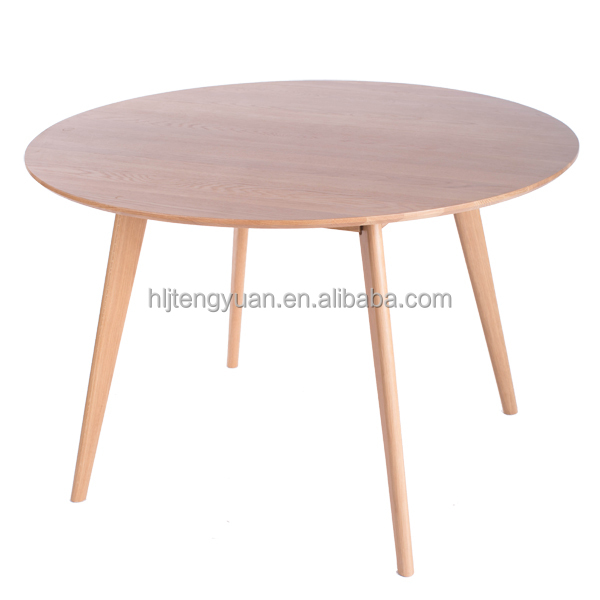 Good quality solid oak wood round dining wedding table for Good quality dining tables