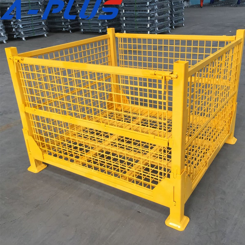 Industrial Wire Mesh Container Pallet Cages For Cargo and Storage