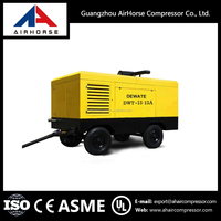 Dustless sand blasting machine portable screw air compressor for car