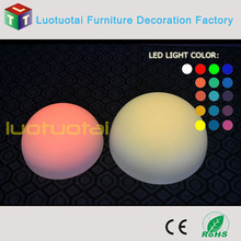 60CM PE Remote control/ Waterproof /rechargeable LED half ball LED half moon decoration light LTT-B600A