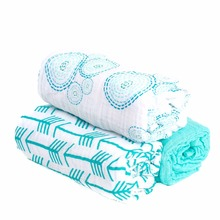 Bottom price sell 100% high quality cotton breathable comfortable soft muslin baby swaddle blanket 2-pack 3-pack 4-pack
