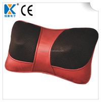 Hot Shiatsu Thai Vibrating Kneading and Infrared Heating Massage Pillow for Car and Home Use