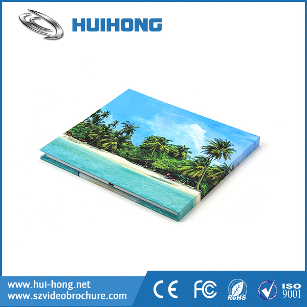 CardType and Business Gift Use 7 inch Video Advertising Card Video Brochure Components Audio Video Book For Advertising