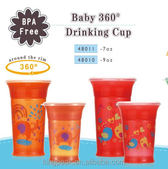 2017 New Design novelty Miracle 360 Trainer Sippy Cup/BPA free 360 Degree No Spill Magic Cup/Miracle 360 Degrees Deco Sippy Cup