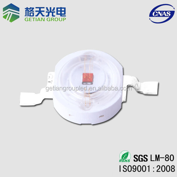 Top Factory red led light mask 30-50LM 640-660nm 1W 3W 5W High Power Red LED