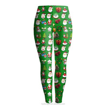 Christmas house santa jogging yoga legging capris/ndbo fitness training athletic legging/ sports pants