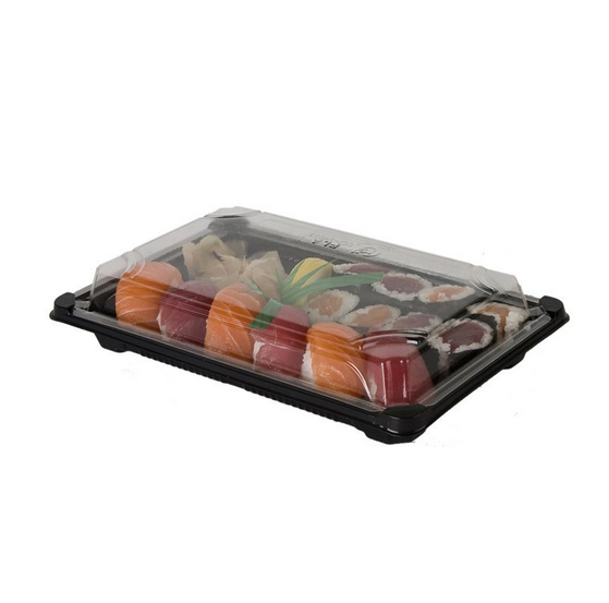 Renewable & Compostable Large Sushi Containers,inch Case of 400)