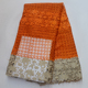 Orange color Guipure lace fabric with stones Embroidery High Quality Cord lace fabric for dress Ngieran french lace fabric