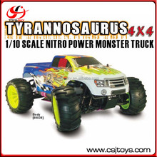 HSP Tyrannosaurus 4x4 1/10 Scale Nitro RC Car Monster Truck