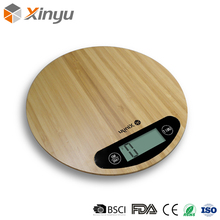Wooden Round Mechanical Manual Foldable Kitchen Weighing Scale