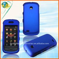 Blue rubberized hard case for Samsung Eternity 2 A597