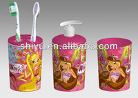 plastic 3d bathroom toothbrush holder sets