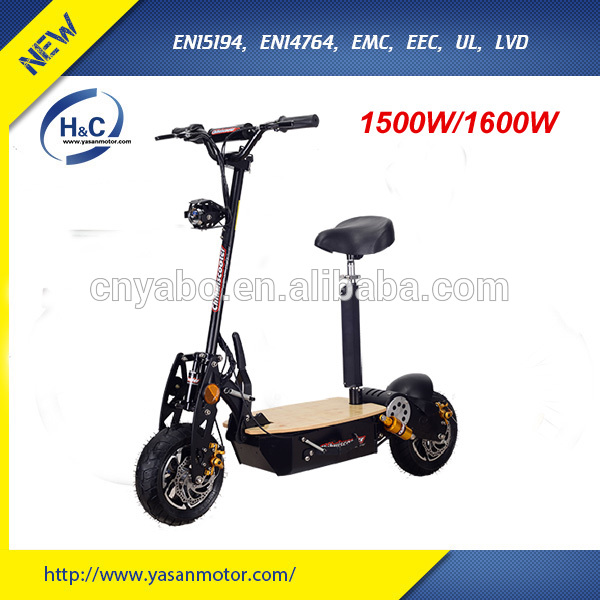 kick scooters 2016 cheap foot scooter 12Ah electric skateboard 800w/1500W two wheel stand up electric scooter for kids adults