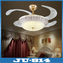 AC220V french gold Invisible fan type led ceiling fan lamp