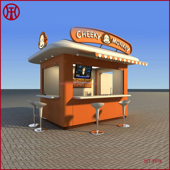 street wood outdoor kiosk for food snack coffee ice cream. Black Bedroom Furniture Sets. Home Design Ideas