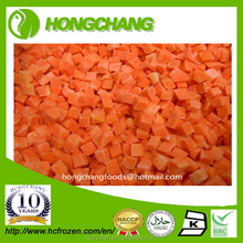 Frozen IQF Carrot diced
