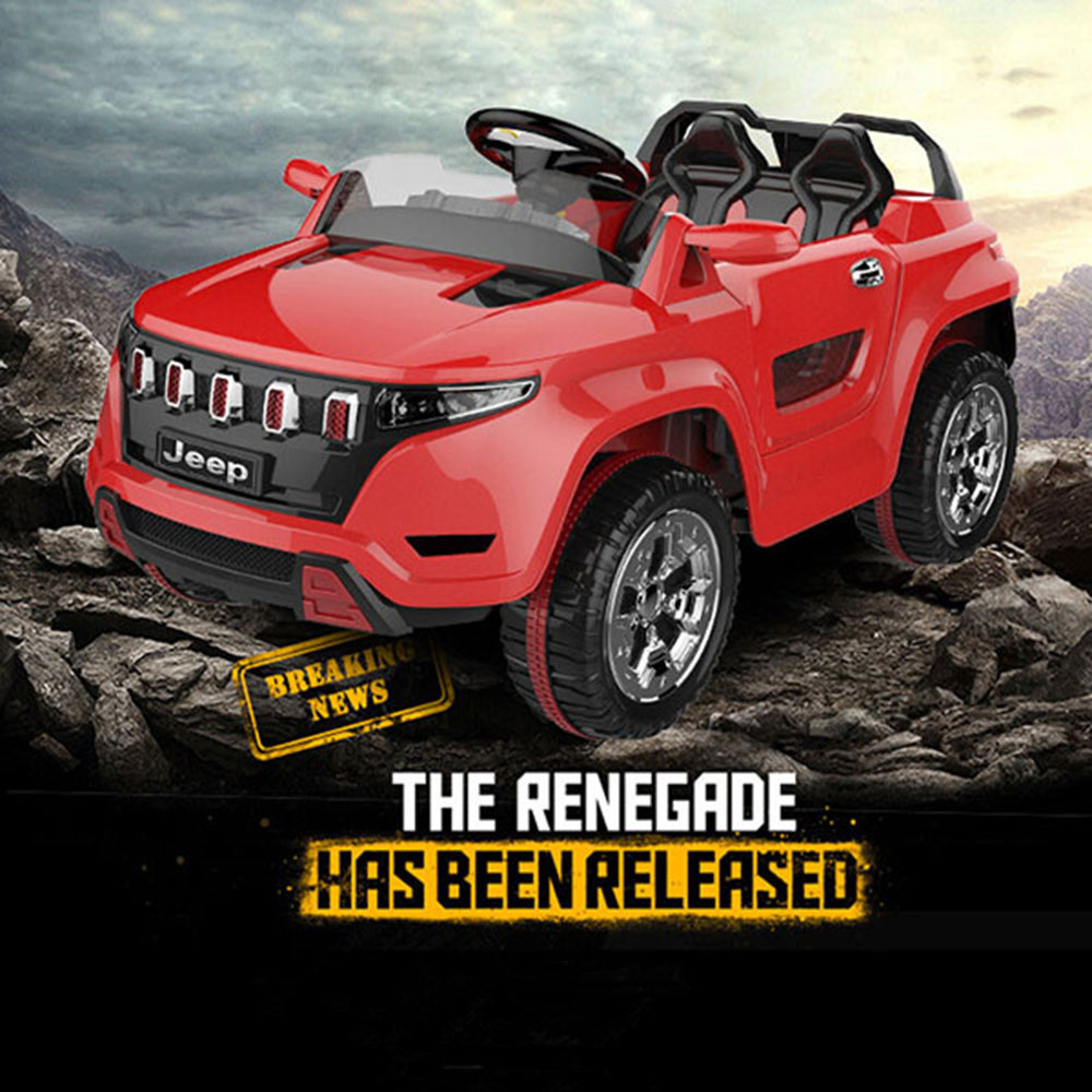 Shock Absorbing Children Simulation Jeep Car Kids Electric Toy Car with Open Doors