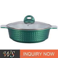 blue induction steamer pot with knob