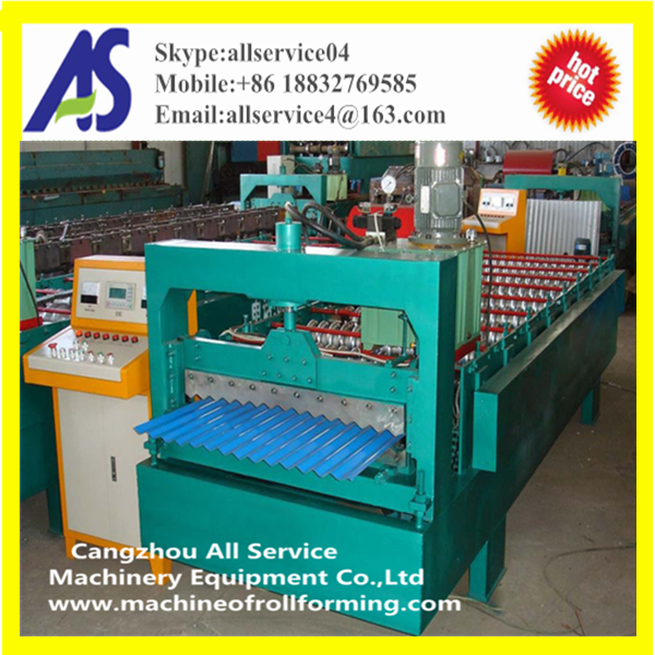 AS850 Type Corrugated Metal Roofing Tile Roll Forming Machine