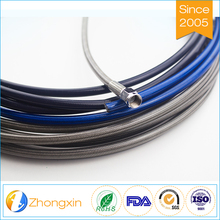 Flexible ptfe Hose Motorcycle Brake Lining, an3 an4 an6 an8 stainless steel braided ptfe gas line hose