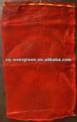 cheap HDPE raschel mesh bag for packing vegetables and fruits